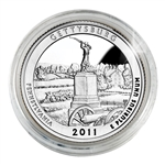 2011 Gettysburg (Pennsylvania) Proof Quarter - San Francisco Mint