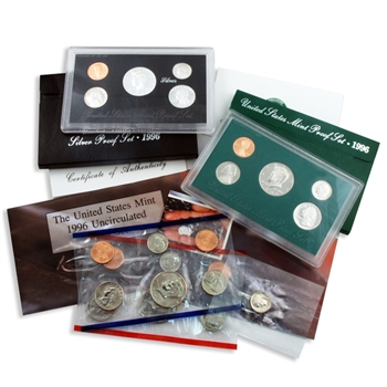 1996 Proof & Mint Set Trio - Clad & Silver
