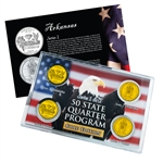 Arkansas Series 1 & 2 - 4pc Quarter Set- GOLD