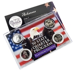 Arkansas Series 1 & 2 - 4pc Quarter Set- Platinum