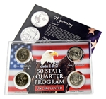 Wyoming Series 1 & 2 - 4pc Quarter Set- UNC