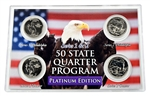 Wyoming Series 1 & 2 - 4pc Quarter Set- Platinum