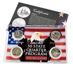 California Series 1 & 2 - 4pc Quarter Set- UNC