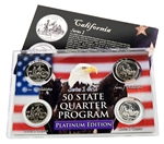 California Series 1 & 2 - 4pc Quarter Set- Platinum