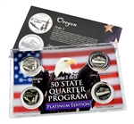 Oregon Series 1 & 2 - 4pc Quarter Set- Platinum