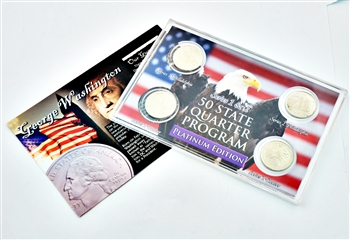 Pennsylvania Series 1 & 2 - 4pc Quarter Set- Platinum