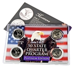 Montana Series 1 & 2 - 4pc Quarter Set- Platinum