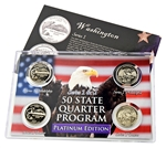 Washington Series 1 & 2 - 4pc Quarter Set- Platinum