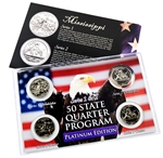 Mississippi Series 1 & 2 - 4pc Quarter Set- Platinum
