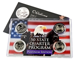 Oklahoma Series 1 & 2 - 4pc Quarter Set- Platinum