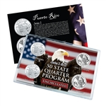 Puerto Rico Series 1 & 2 - 4pc Quarter Set- UNC