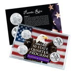 Puerto Rico Series 1 & 2 - 4pc Quarter Set- Platinum