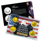 Maine Series 1 & 2 - 4pc Quarter Set- GOLD
