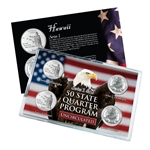 Hawaii Series 1 & 2 - 4pc Quarter Set- UNC