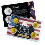 Hawaii Series 1 & 2 - 4pc Quarter Set- GOLD