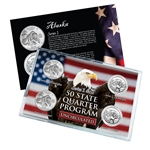 Alaska Series 1 & 2 - 4pc Quarter Set- UNC