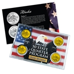 Alaska Series 1 & 2 - 4pc Quarter Set- GOLD