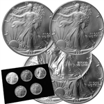 1st 5 Years of Silver Eagles (1986 to 1990) - Uncirculated