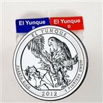 2012 El Yunque Quarter Rolls - Philadelphia & Denver Mints - Uncirculated
