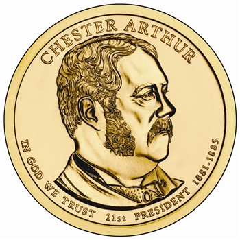 2012 Chester A. Arthur Presidential Dollar - Gold - Denver