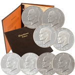 1971-78 Eisenhower PDS Uncirculated Set - 21 Coins in Dansco
