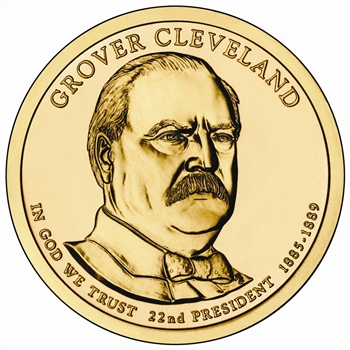 2012 Grover Cleveland 1st Term - Presidential Dollar - Gold - Philadelphia