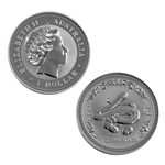 2001 Australian Year of the Snake 1 oz Silver