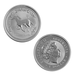 2002 Australian Year of the Horse 1 oz Silver