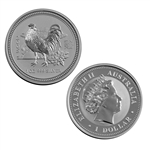 2005 Australian Year of the Rooster 1 oz Silver