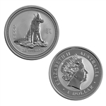 2006 Australian Year of the Dog 1 oz Silver