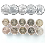 2001 50 States Quarters Collector Roll Set – 10 P / 10 D - Uncirculated