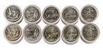 2002 50 States Quarters Collector Roll Set – 10 P / 10 D - Uncirculated