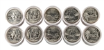 2003 50 States Quarters Collector Roll Set – 10 P / 10 D - Uncirculated