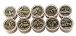 2007 50 States Quarters Collector Roll Set – 10 P / 10 D - Uncirculated