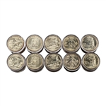 2008 50 States Quarters Collector Roll Set – 10 P / 10 D - Uncirculated