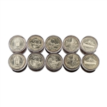 2010 50 States Quarters Collector Roll Set – 10 P / 10 D - Uncirculated