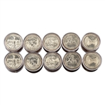 2011 50 States Quarters Collector Roll Set – 10 P / 10 D - Uncirculated