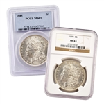 Philadelphia Morgan Silver Dollar - Certified MS63