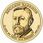 2012 B. Harrison - Presidential Dollar - Gold - Philadelphia