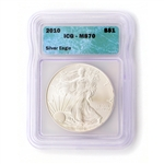 2010 Silver Eagle - ICG - Certified 70