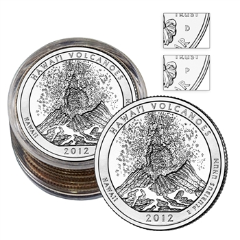 2012 Hawaii Volcanos Quarter Collector Roll of 10 - 5 P / 5 D