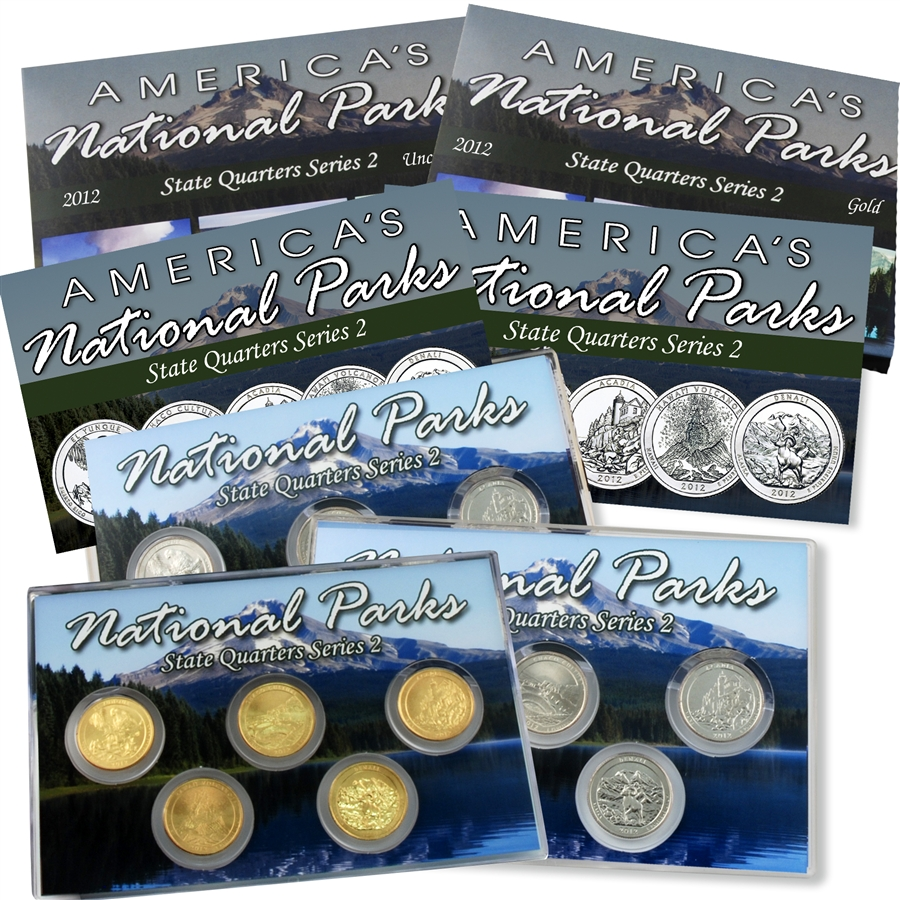 2012 P+D+S+S America the Beautiful ~ National Parks ~ Complete Set
