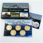 2012 National Parks Quarter Mania Set - San Francisco - Uncirculated - Gold Layered