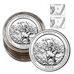 2012 Alaska Denali Quarter Collector Roll of 10 - 5 P / 5 D