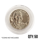 Coin Capsule - Nickel 21 mm - Qty 50