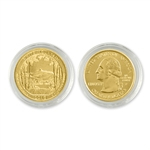 2013 New Hampshire White Mountain Qtr - Philadelphia - Gold in Capsule