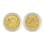 2013 New Hampshire White Mountain Qtr - Denver - Gold in Capsule
