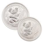 2013 Australian Koala 2pc 1oz & 1/2oz Silver - Uncirculated