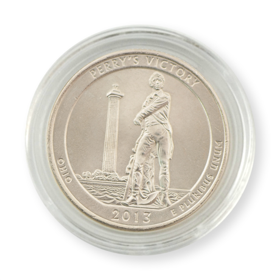 2013 P Perry/'s Victory Ohio America the Beautiful BU Quarter from US Mint Roll