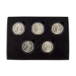 The First 5 New Orleans Mint Morgan Silver Dollars - Uncirculated
